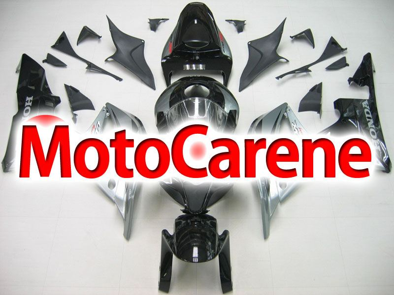 HONDA CBR 600RR Carena ABS Year 2007 2008 Fairing Art 61 Nero Grigio Lucido