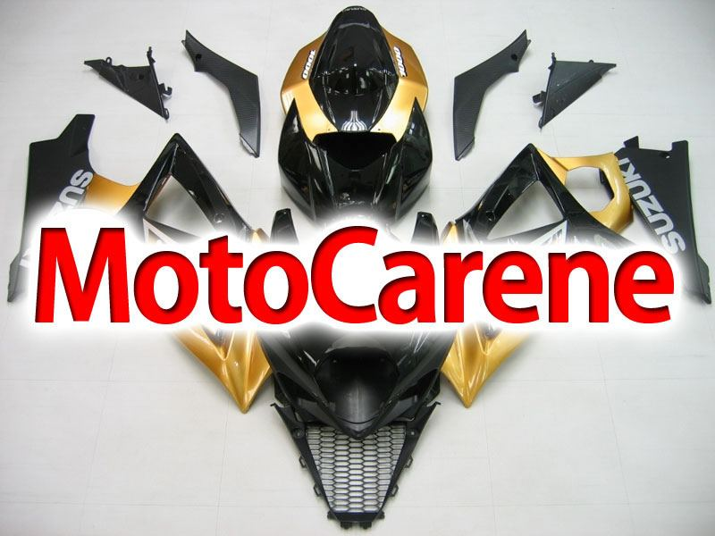SUZUKI GSX 1000 Anno 2007 2008 K7 Carena ABS Kit Fairing Art 14 Nero Oro