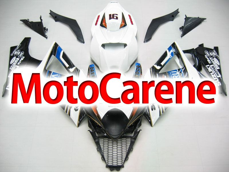 SUZUKI GSX 1000 Anno 2007 2008 K7 Carena ABS Kit Fairing Art 31 SBK Dark Dog Nera Motul
