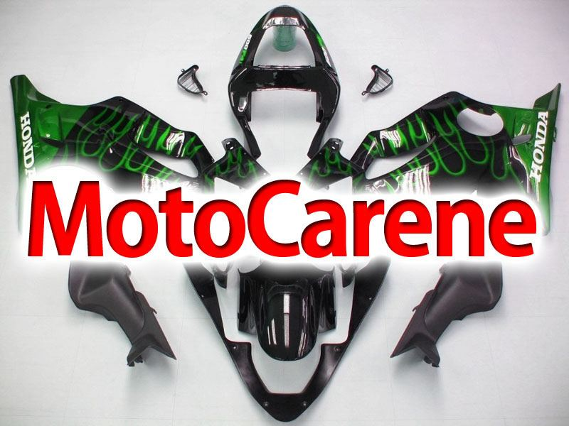 HONDA CBR 600 f4i anno 2001 2003 Carena ABS Fairing Art 21 Black Fire Green