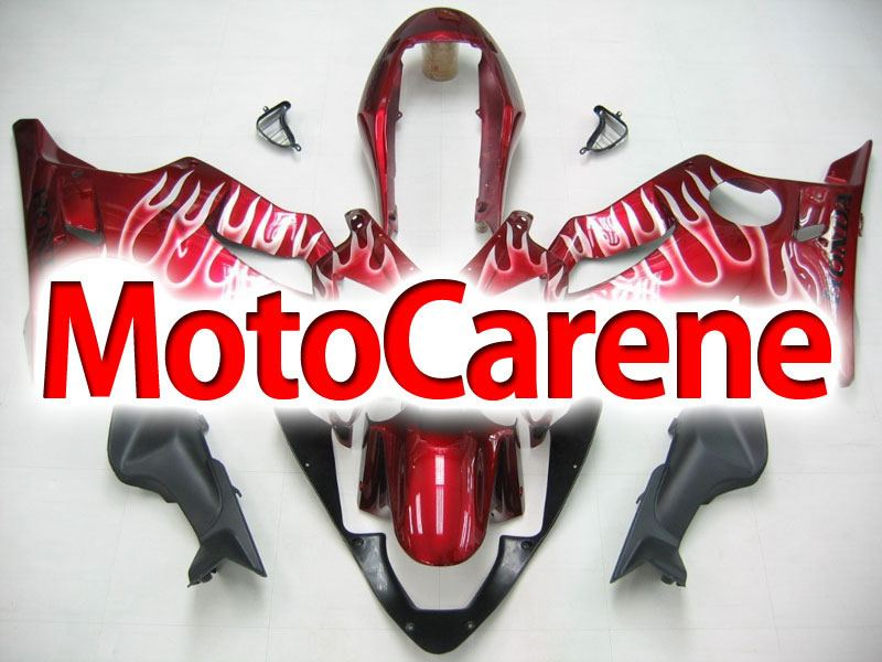 HONDA CBR 600 f4i anno 2004 2007 Carena ABS Fairing Art 18 Red Fire White