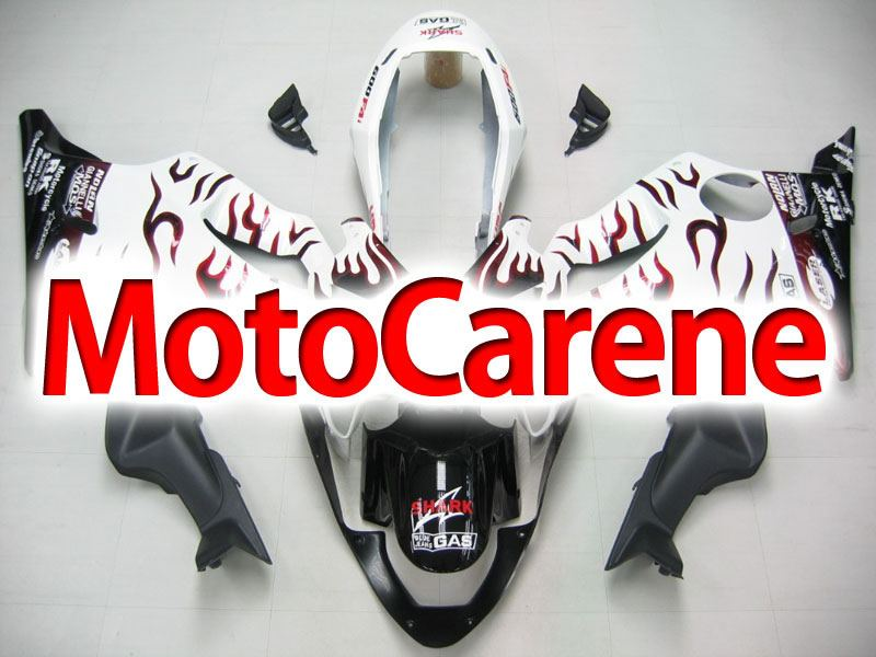 HONDA CBR 600 f4i anno 2004 2007 Carena ABS Fairing Art 30 Shark White fire Red