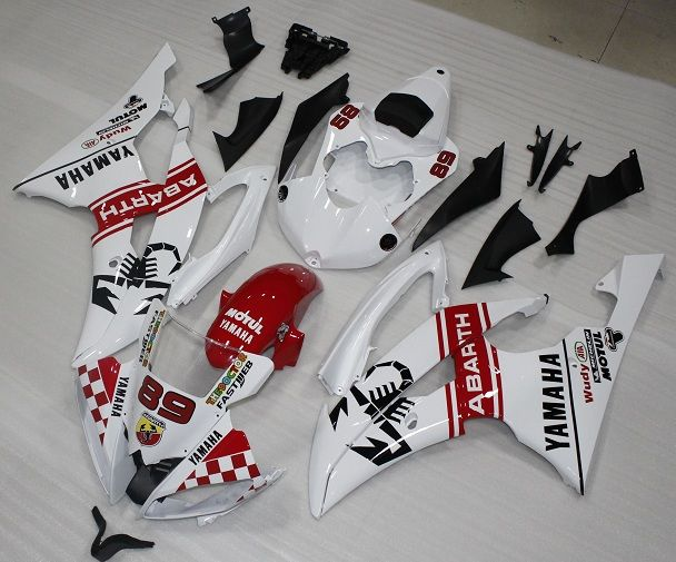 YAMAHA YZ-F R6 carena ABS anno 2008 2014 Kit fairing Art. 17 Abarth The doctor personalizzata