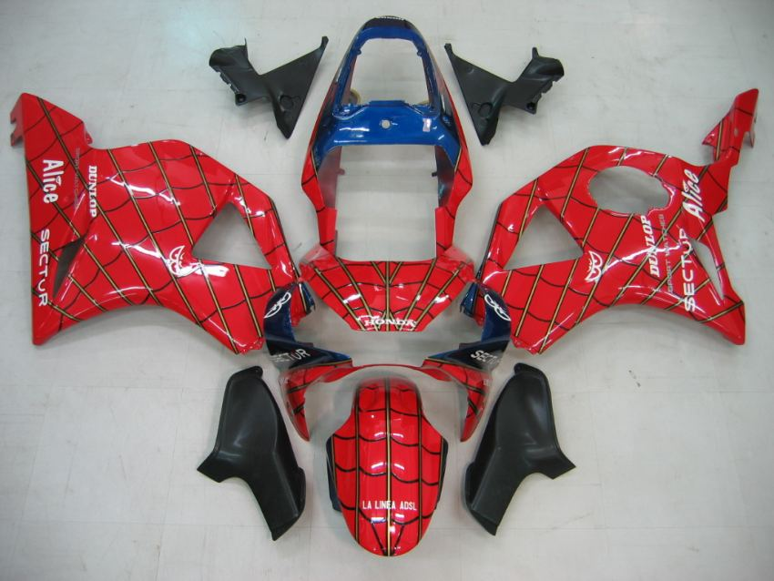 HONDA CBR 954 RR ANNO 02 03 Carena Fairing ABS Art 11 Spiderman Rosso