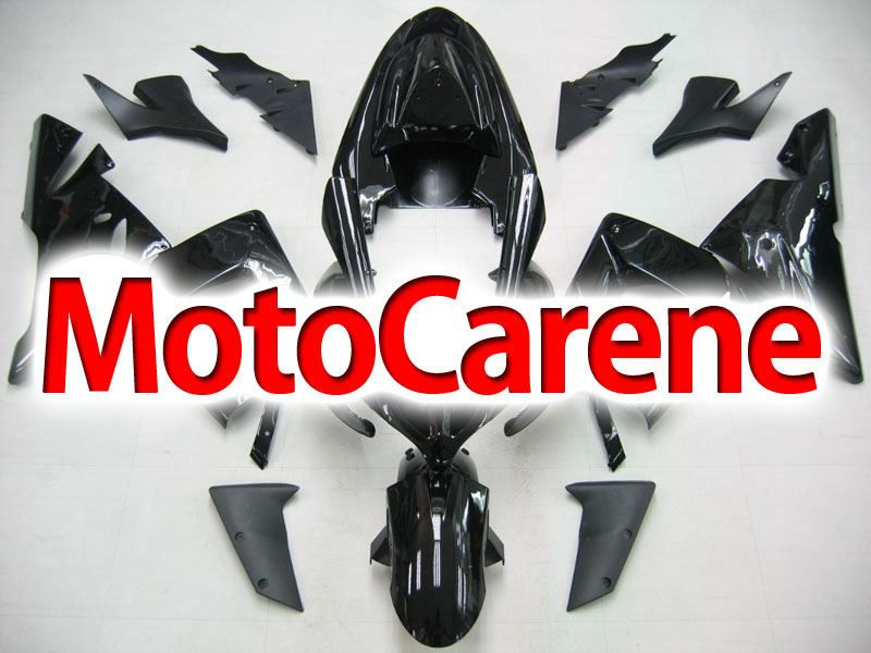 KAWASAKI ZX 10R Carena ABS Anno 2004 - 2005 Kit Fairing Art 09 Nera Totale lucida e opaco