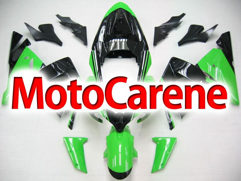 KAWASAKI ZX 10R Carena ABS Anno 2004 - 2005 Kit Fairing Art 12 Green black Ninja