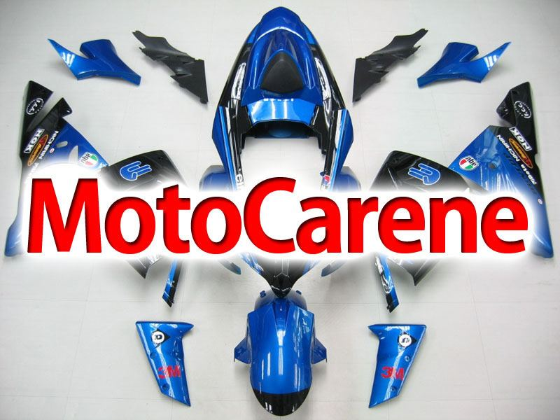KAWASAKI ZX 10R Carena ABS year 2004 - 2005 Kit Fairing Art 17 Blu  Energy