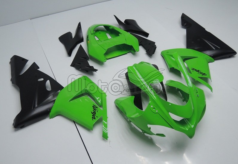 KAWASAKI ZX 10R Carena ABS Anno 2004 - 2005 Kit Fairing Art 21 Verde Ninja Totale