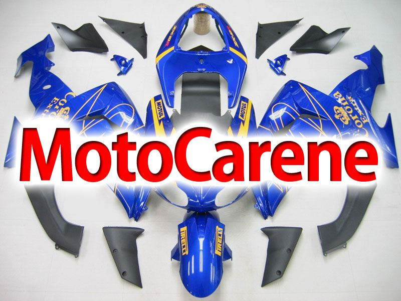 KAWASAKI ZX 10R Carena ABS Anno 2006 - 2007 Kit Fairing Art 13 Blu Corona extra beer