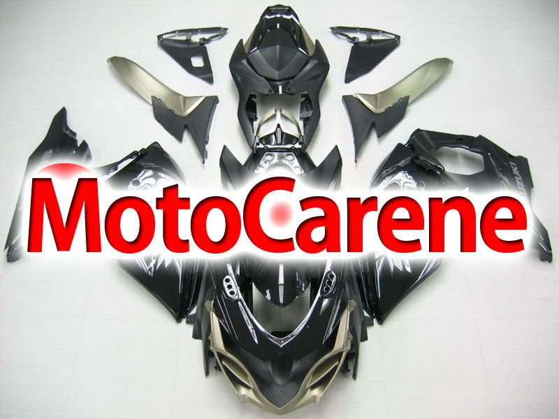 SUZUKI GSX 1000 Anno 2009 2012 Carena ABS Kit Fairing Art 09 Nera lucida Gold