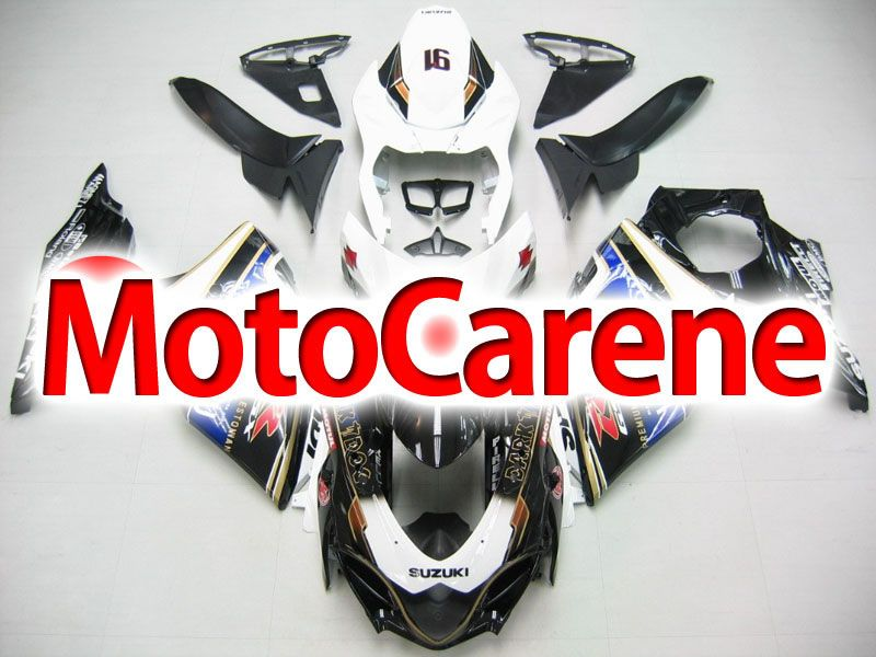 SUZUKI GSX 1000 Anno 2009 2012 Carena ABS Kit Fairing Art 03 Viru Beer Dark dog black white