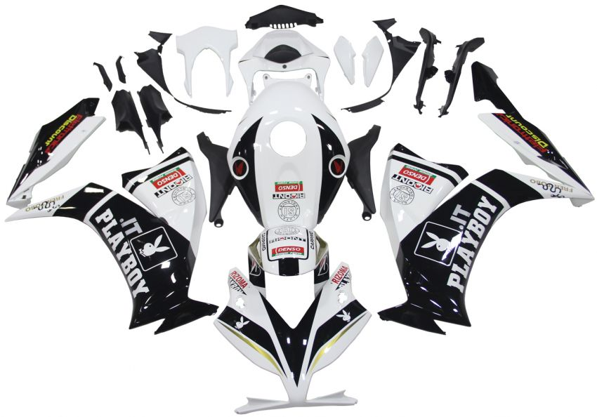 HONDA CBR 1000RR Kit carena ABS compatibile anno 2012-2016 Art 01 playboy bianca