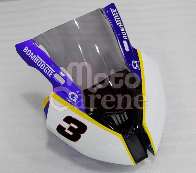 BMW 1000 RR Carena ABS Fairing Bianco totale goldbet SBK Melandri versione racing ART 11