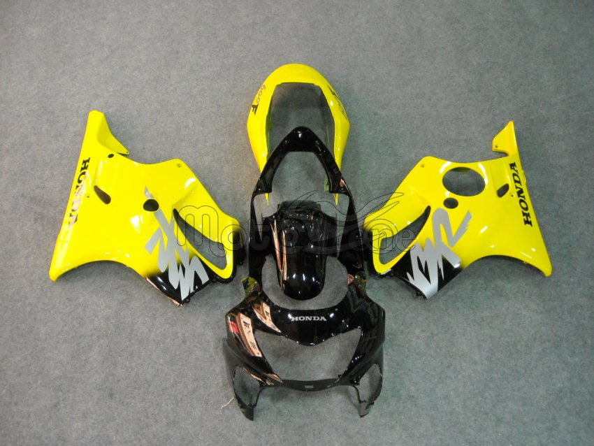 HONDA CBR 600 F4 anno 99 00 Carena ABS Fairing Art 05 nero Giallo Ultima ligth Japan