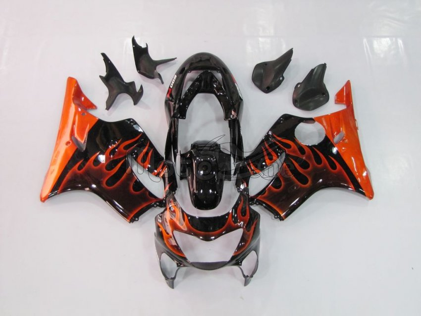 HONDA CBR 600 F4 anno 99 00 Carena ABS Fairing Art 07 Black orange fire