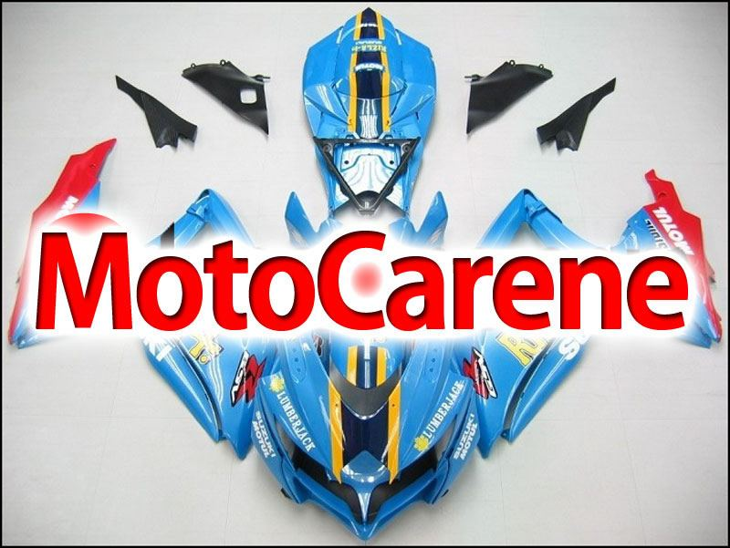 SUZUKI GSX 600 GSX 750 Anno 2008 2010 Carena ABS Kit Fairing Art 05 Rizla Sky