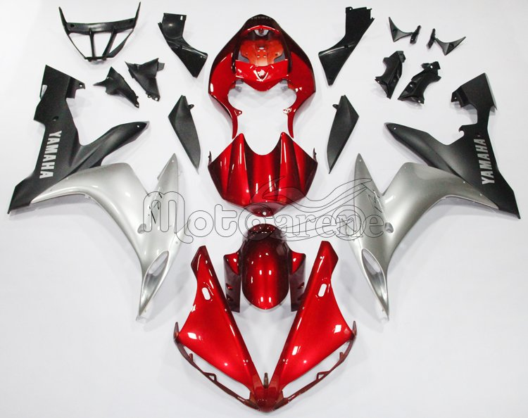 YAMAHA YZ-F R1 Carena ABS Year 2004-2006 Kit Fairing Delta box V Art 34 red grey black matt