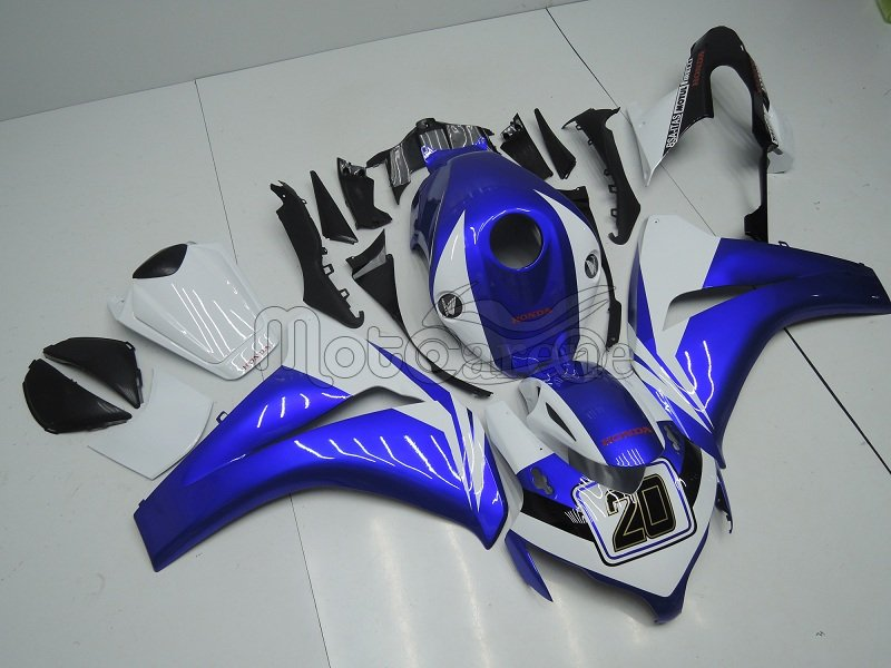 HONDA CBR 1000RR year 2008 2011 Carena ABS Kit Art 53 altea personalizzata blu