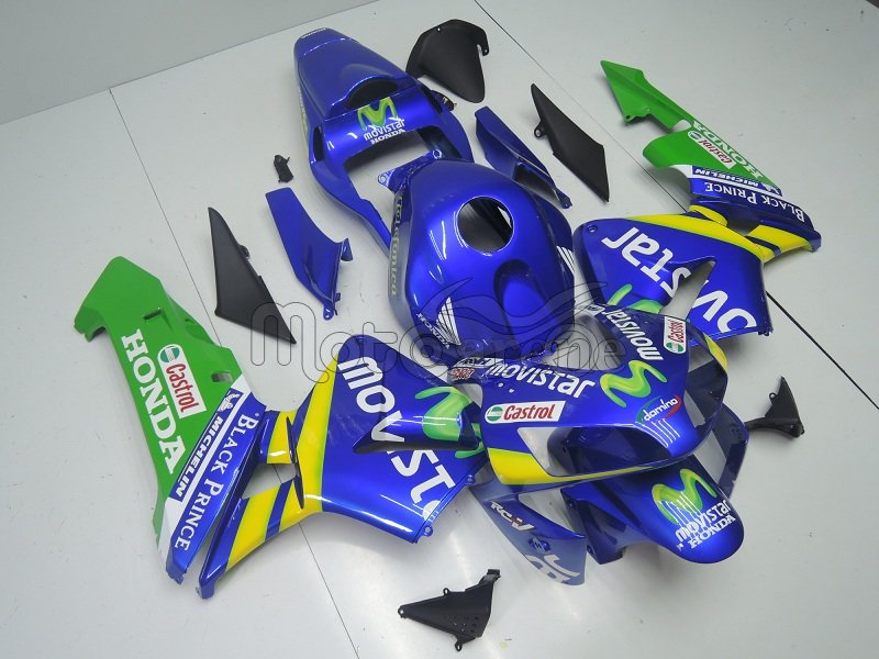 Honda CBR 600RR Kit Carena ABS Year 2003 2004 Art.10a Movistar Blue