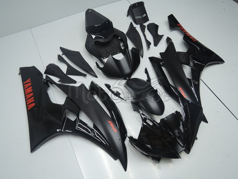 YAMAHA YZ-F R6 Carena ABS Anno 2006 2007 Kit Art 23a Nero Opaco Lucido