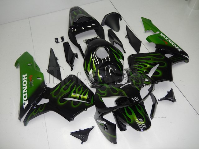 Honda CBR 600RR Kit Carena ABS 2003 2004 Art.93 Fire green