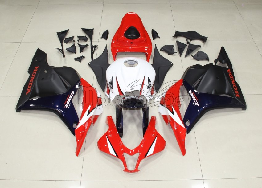 HONDA CBR 600RR Carena ABS Year 2009 2012 Fairing Art 02 Red Blu