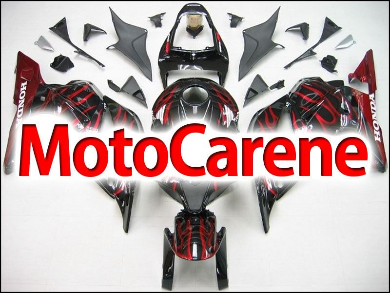 HONDA CBR 600RR Carena ABS Year 2009 2012 Fairing Art 08 Black Fire Red