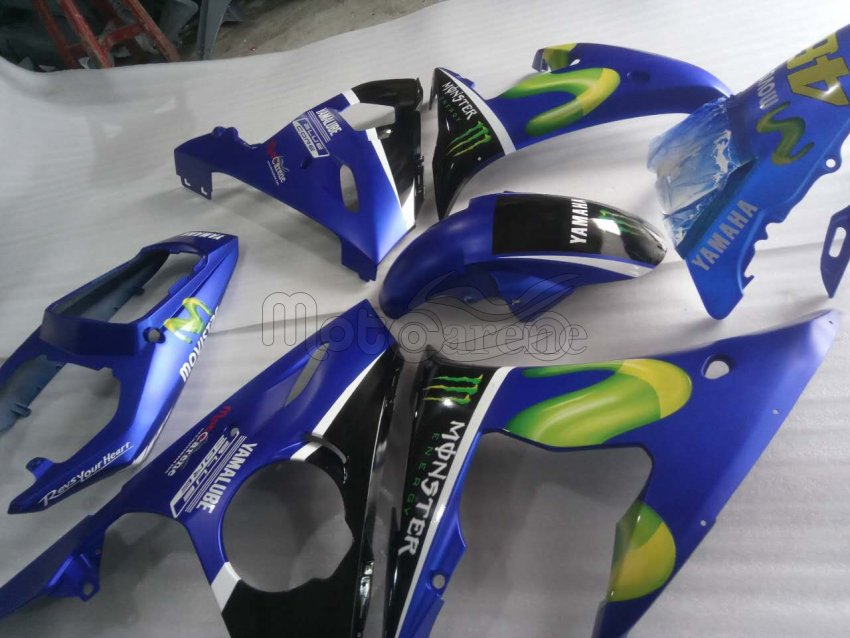 YAMAHA YZ-F R6 Carena ABS Anno 2003 2004 Art 35 motoGp Movistar 2017