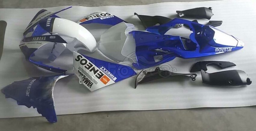 YAMAHA YZ-F R1 Carena ABS Year 2012 2014 art 18-a M1 Movistar Opaca personalizzata