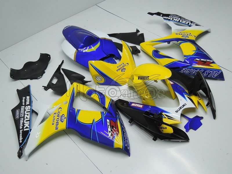 SUZUKI GSX 1000 Anno 2009 2016 kit Carena ABS Art 25 Corona Gialla