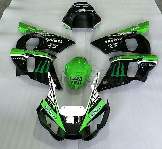 YAMAHA YZ-F R6 kit Carena ABS Anno 1998 2002 Art 26 Nera Verde