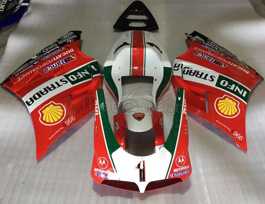 DUCATI Carena ABS 748-916-996-998 anno 96 02 Kit completo art. 13 Carl Fogarty 1