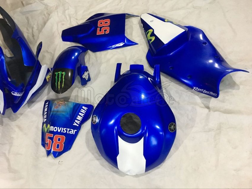 YAMAHA R6 Carena  Fiberglass 2008 - 2016  Art 02 Movistar M1 2016