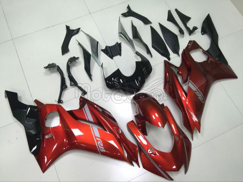 Carene in ABS compatibile YAMAHA R6  anno 2017 2018 art 03 Red Silver