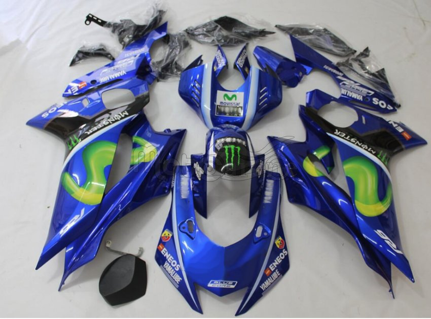 Carene in ABS compatibile YAMAHA R6  anno 2017 2018 art 05 Vr46 Movistar M1
