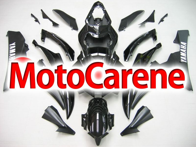 YAMAHA YZ-F R6 Carena ABS Anno 2006 2007 Kit Fairing Art 12 Nero Totale Lucido