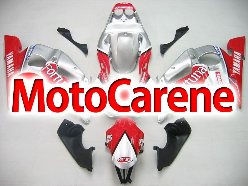 YAMAHA YZ-F R6 Carena ABS Anno 1998 2002 Kit Fairing Art 06 Fortuna Red Grey