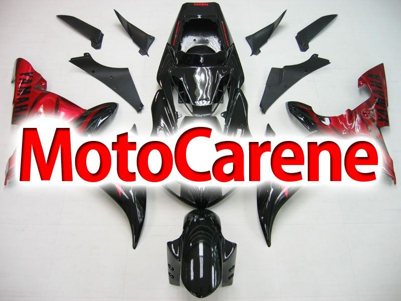 YAMAHA YZ-F R1 Carena ABS Year 2002 - 2003 Kit Fairing Delta box III Art 12 Nero Rosso Lucido
