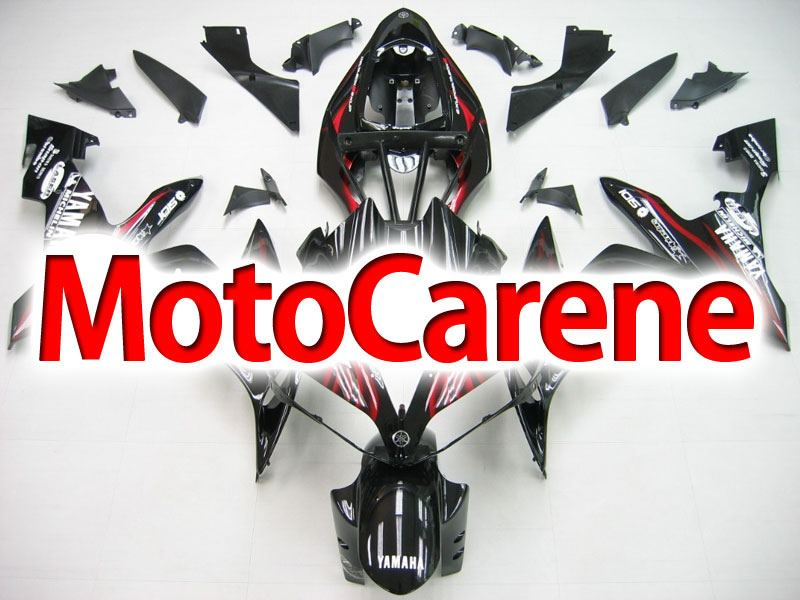 YAMAHA YZ-F R1 Carena ABS Year 2004-2006 Kit Fairing Delta box V Art 09 Black Fire Red