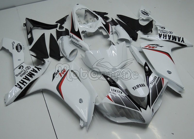 YAMAHA YZ-F R1 Carena ABS Year 2007-2008 Kit Fairing Delta box V Art 15 Carbon Bianco
