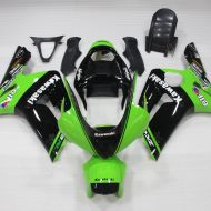kAWASAki ZX 6R Carena ABS Year 2003-2004 kit Fairing Art 06 Ninja Verde Nera