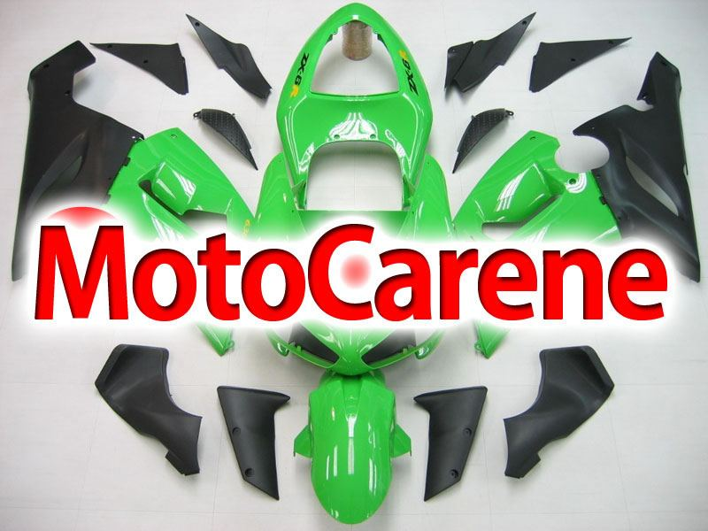 KAWASAKI ZX 6R Carena ABS Year 2005-2006 Kit Fairing Art 01 Verde Ninja