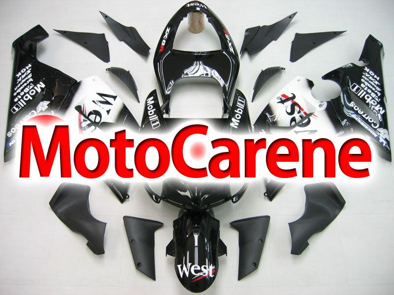 KAWASAKI ZX 6R Carena ABS Year 2005-2006 Kit Fairing Art 04 West Nera