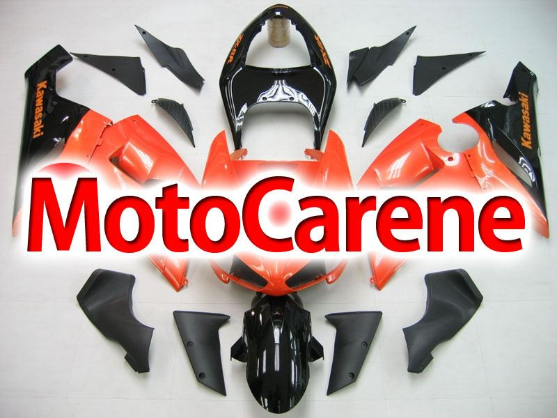 KAWASAKI ZX 6R Carena ABS Year 2005-2006 Kit Fairing Art 12 Arancio Mattone