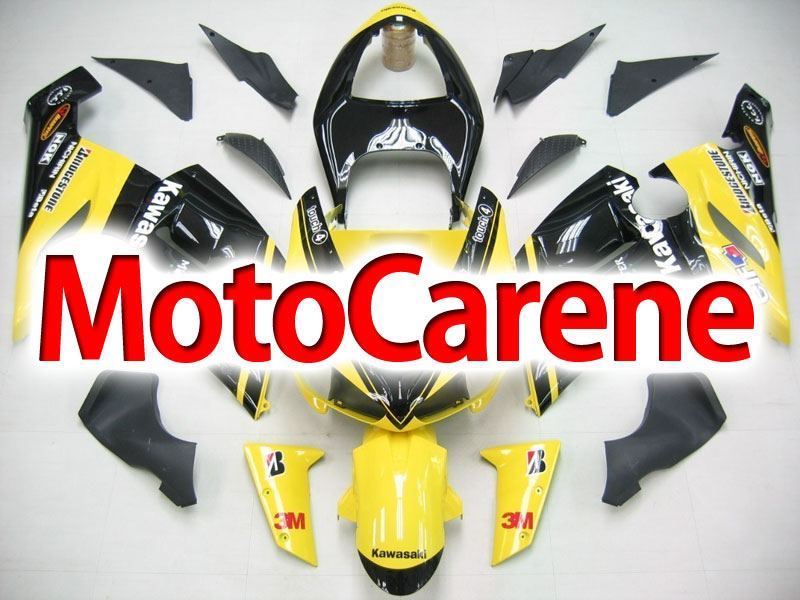 KAWASAKI ZX 6R Carena ABS Year 2005-2006 Kit Fairing Art 21  Giallo Nero