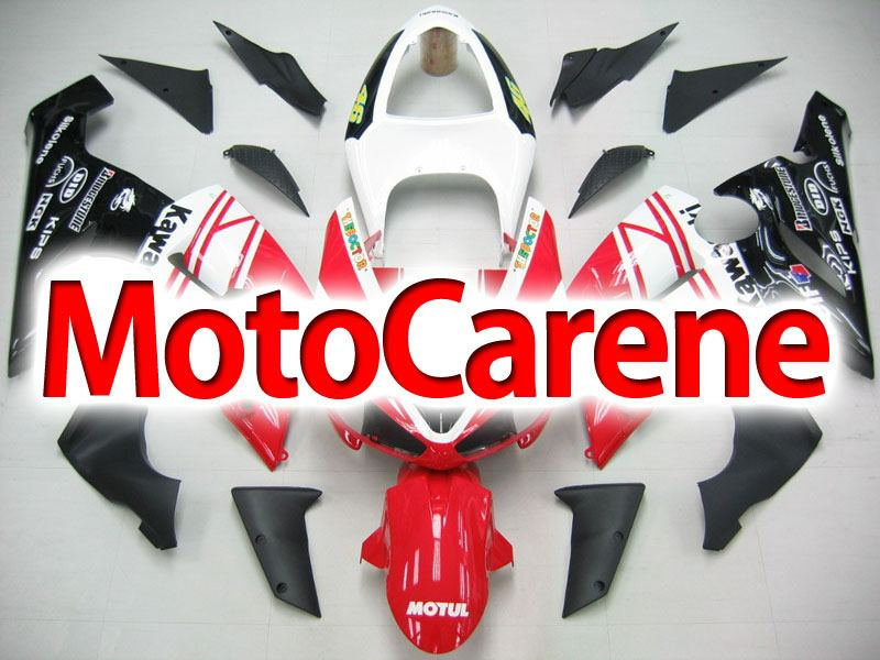 KAWASAKI ZX 6R Carena ABS Year 2005-2006 Kit Fairing Art 33 Rosso The Doctor 46 Vale