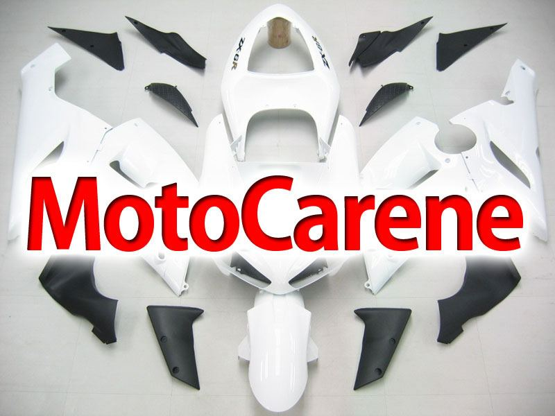 KAWASAKI ZX 6R Carena ABS Year 2005-2006 Kit Fairing Art 34 Bianco Ninja Totale
