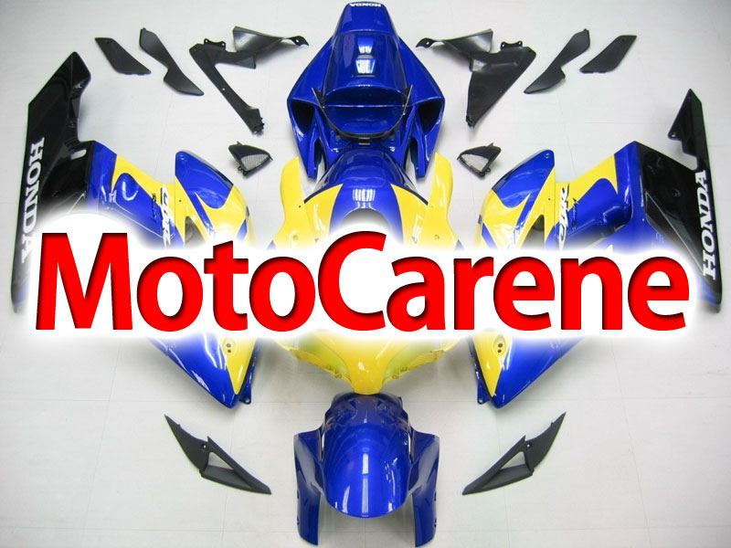HONDA CBR 1000 RR Year 2004 2005 Carena ABS Kit Bodywork Fairing Art 14 Blu Giallo
