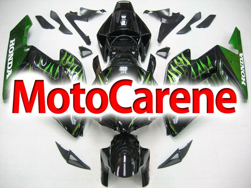HONDA CBR 1000RR Year 04 05 Carena ABS Kit Bodywork Fairing Art 36 Nera Fiamme Verde