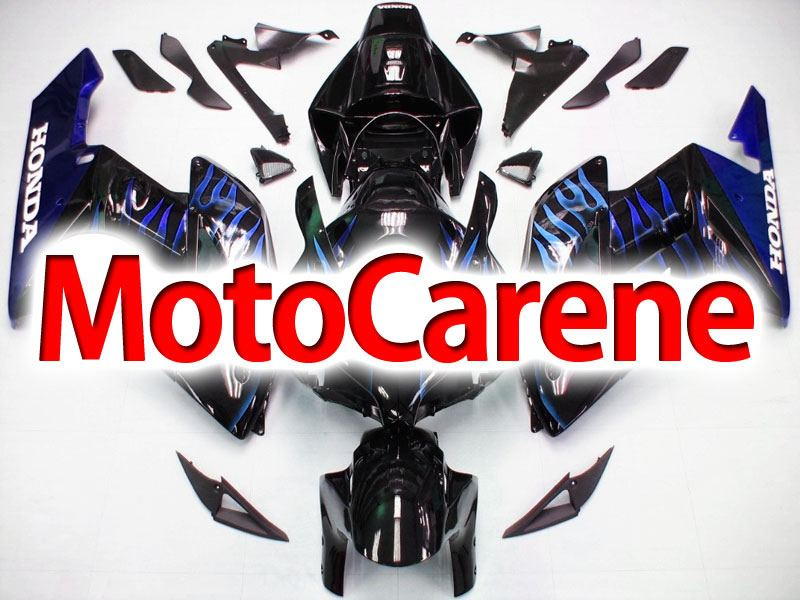 HONDA CBR 1000RR Year 04 05 Carena ABS Kit Bodywork Fairing Art 40 Nera Fiamme Blu